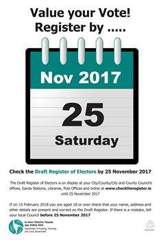 Check now on-line if you are on the Register of Electors