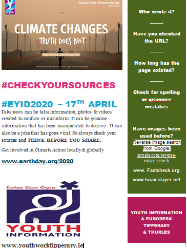 #CHECKYOURSOURCES  #EYID2020 – 17TH APRIL