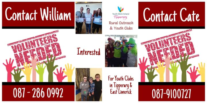 Volunteer with Youth Work Ireland Tipperary