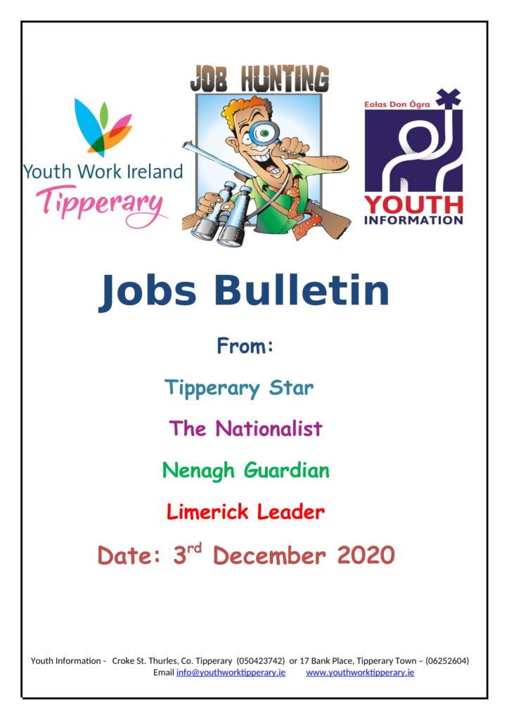 Jobs Bulletin 3rd December