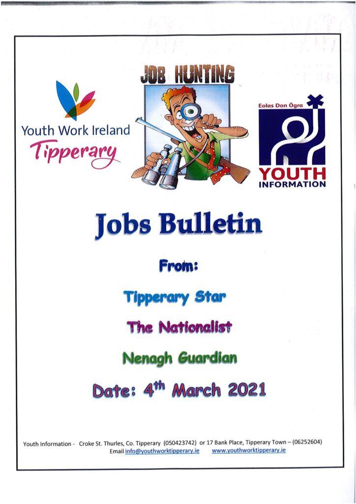 Jobs Bulletin 4th March 2021